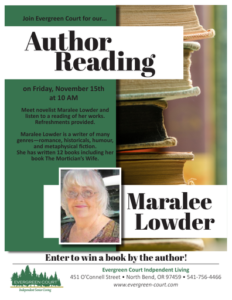 Reading by Author Maralee Lowder @ Evergreen Court Independent Living