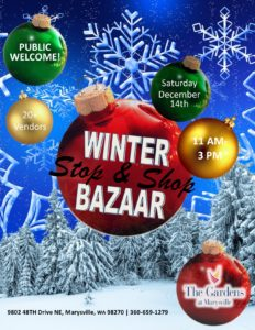 Holiday Stop and Shop Bazaar @ The Gardens at Marysville