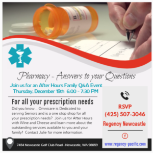 Omnicare Pharmacy Information Night @ Regency Newcastle