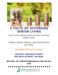 Affording Senior Living @ Brookdale Everett