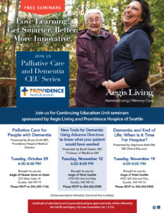 CEU EVENT: Palliative and Dementia Care by Providence @ Aegis Living West Seattle