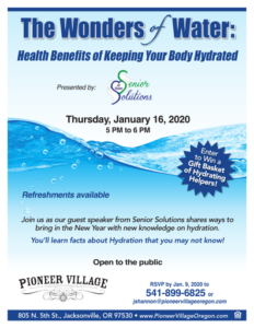 The Wonders of Water: Health Benefits of Keeping Your Body Hydrated @ Pioneer Village