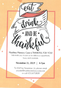 Thankful for You @ Mukilteo Memory Care