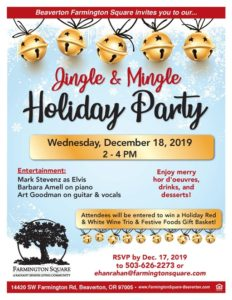 Jingle & Mingle Holiday Party! @ Beaverton Farmington Square