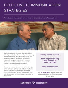 Effective Communication Strategies @ Boone Ridge Senior Living