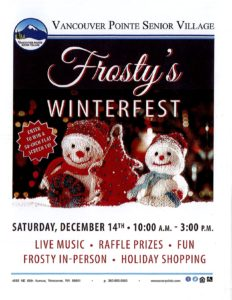 Frosty's Holiday Bazaar @ Vancouver Pointe Senior Village