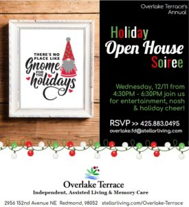 Overlake Terrace Holiday Open House & Referral Partner Appreciation Event @ Overlake Terrace