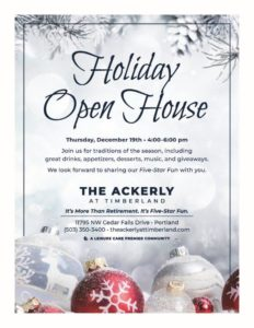 Holiday Open House at The Ackerly at Timberland @ The Ackerly at Timberland