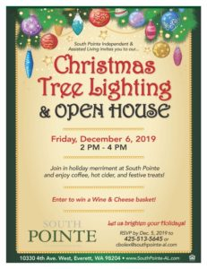 Christmas Tree Lighting & Open House @ South Pointe Independent and Assisted Living