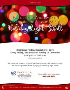 Holiday Light Stroll @ Pacifica St. Andrews Memory Care