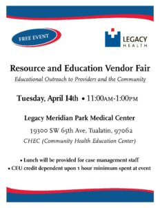 Legacy Meridian Park Resource Fair @ Legacy Meridian Park Medical Center