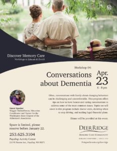 Conversations About Dementia @ Puyallup Activity Center