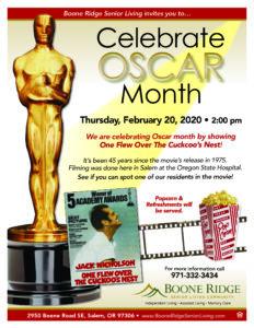 Celebrate Oscar Month @ Boone Ridge Senior Living