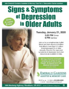 Signs & Symptoms of Depression in Older Adults @ Emerald Gardens Assisted Living & Memory Care