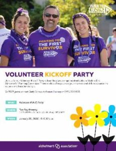 Volunteer Kick-Off Walk to End Alzheimer's -Roseburg @ Two Shy Brewery