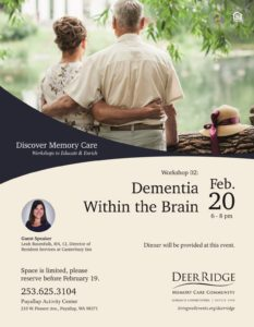 Discover Memory Care - Workshops to Educate and Enrich @ Puyallup Activity Center