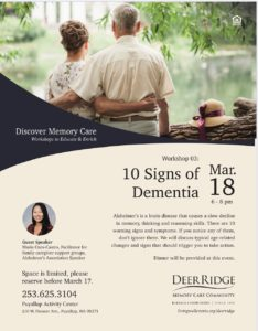 10 Signs of Dementia @ Puyallup Activity Center