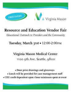 Virginia Mason Medical Center Resource Fair @ Virginia Mason Medical Center