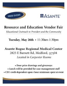 Asante Rogue Resource Fair @ Asante Rogue Regional Medical Center