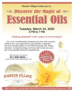 CANCELLED - Discover the Magic of Essential Oils @ Pioneer Village