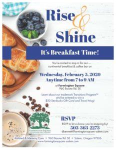 Rise & Shine: It's Breakfast Time! @ Farmington Square Salem