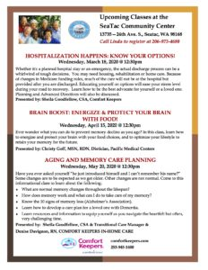 Brain Boost: Energize & Protect Your Brain with Food! @ SeaTac Community Center