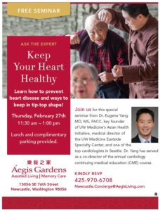 Keep Your Heart Healthy @ Aegis Gardens Newcastle