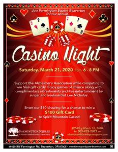 CANCELLED - Casino Night @ Farmington Square Beaverton
