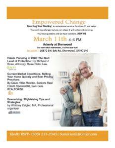 Empowered Change - Educational Seminar @ The Ackerly at Sherwood