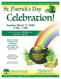 CANCELLED - St. Patrick's Day Celebration @ Farmington Square Eugene