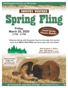 CANCELLED - Country Western Spring Fling @ Evergreen Court