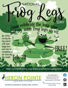 Hoppy Leap Year! @ Heron Pointe Senior Living