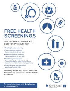 The 22nd Annual Living Well Community Health Fair @ Klamath County Fairgrounds