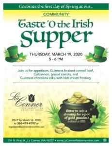 CANCELLED - Taste 'O the Irish Supper! @ La Conner Retirement Inn