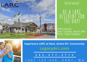 Be a LARC Resident for the Day! @ LARC at Kent