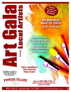 Art Gala featuring Local Artists @ Pioneer Village