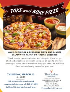 Take and Bake Pizza @ The Gardens at Marysville
