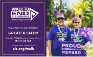 Walk to End Alzheimer's Greater Salem @ Riverfront Park