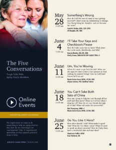 The Five Conversations: Tough Talks with Aging Family Members @ Online Event