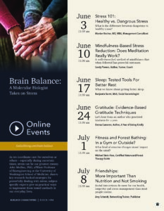 Brain Balance: Fitness and Forest Bathing: In a Gym or Outside? @ Online Event