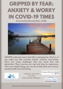 Gripped by Fear: Anxiety & Worry in COVID-19 Times @ Free Online Webinar