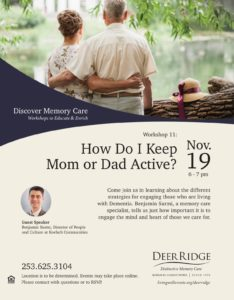 How Do I Keep Mom and Dad Active? @ Puyallup Activity Center