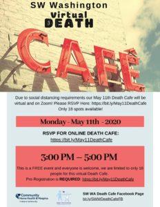 SW Washington Death Cafe (Zoom) @ Zoom