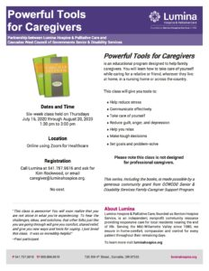 "Powerful Tools for Caregivers Classes @ ""Zoom for Healthcare"" videoconferencing"