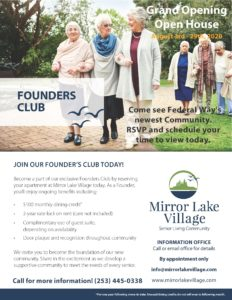 Live Open House Event @ Mirror Lake Village Senior Living