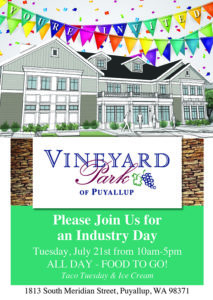 Open House for Referral Partners @ Vineyard Park of Puyallup