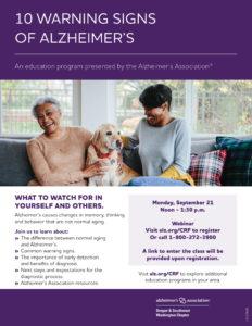 10 Warning Signs of Alzheimer's @ Virtual