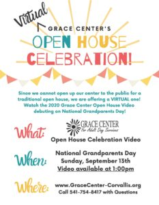 Grace Center Virtual Open House @ Grace Center for Adult Day Services