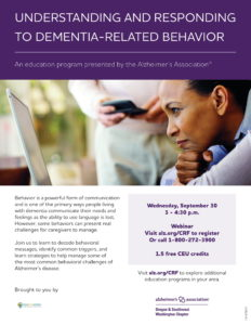 Understanding and Responding to Dementia Related Behavior @ Virtual
