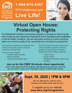 Virtual Open House: Protecting Rights @ Webinar